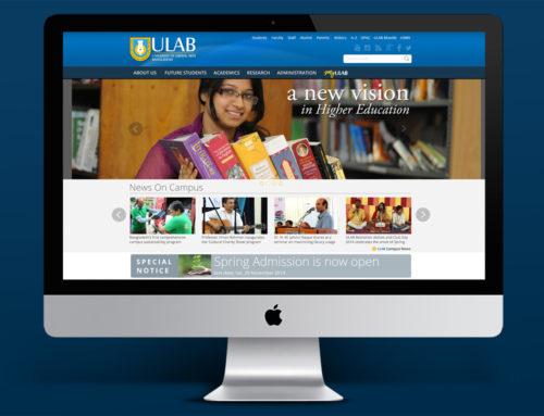 ULAB Website Design