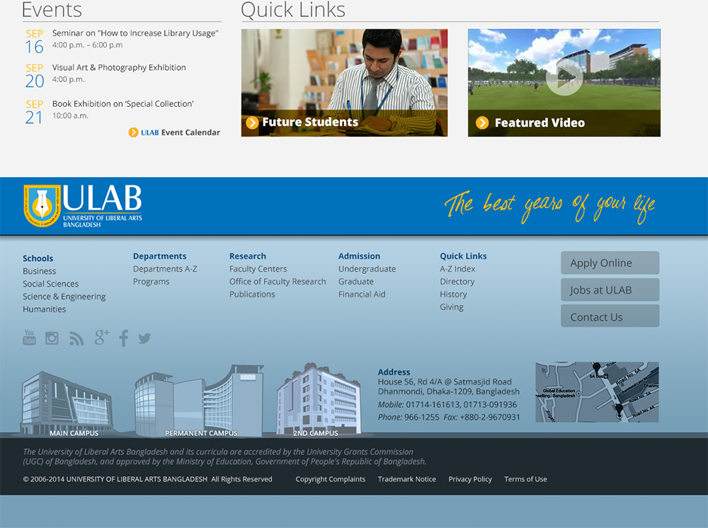 ULAB (footer design)